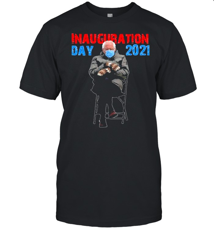 bernie sanders mittens sitting inauguration day 2021 shirt