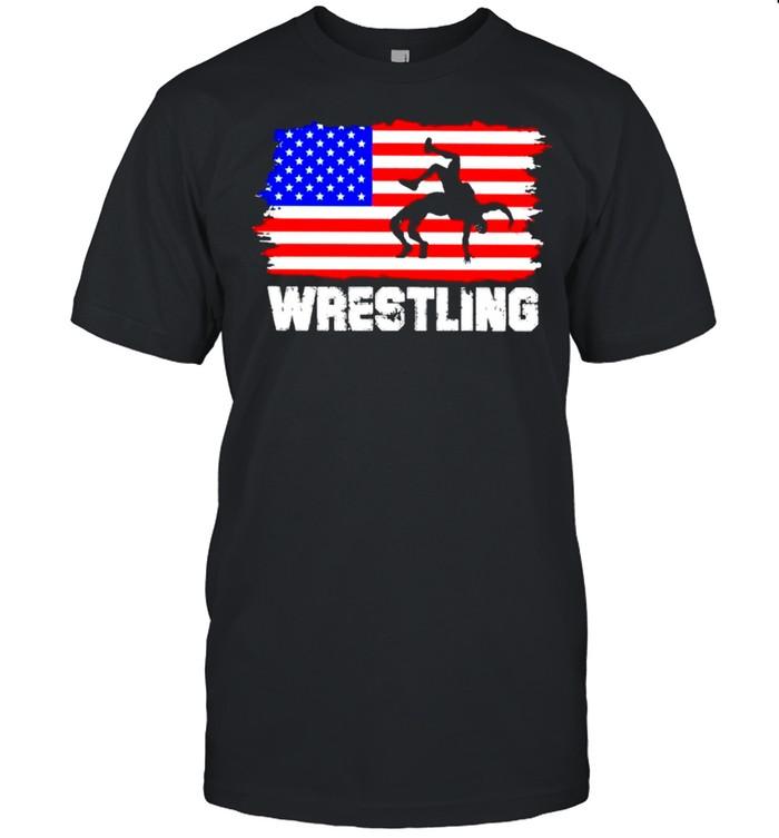 Wrestling American flag 2021 shirt