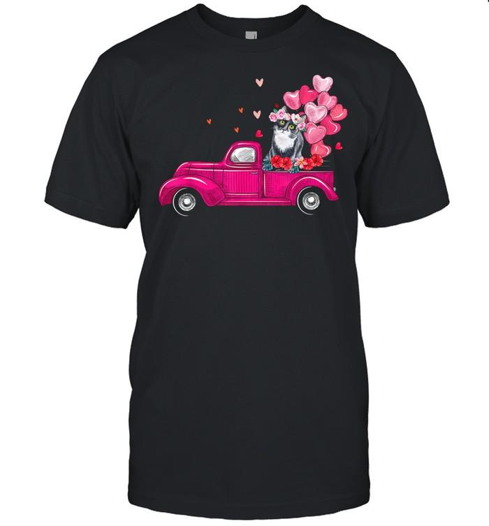 Cute Truck Cat Valentines Day Costume Boy Girl shirt