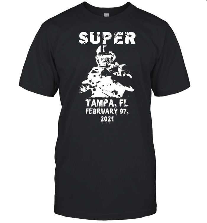 Super big game arrow feb 7 2021 football tampa bowl play shirt