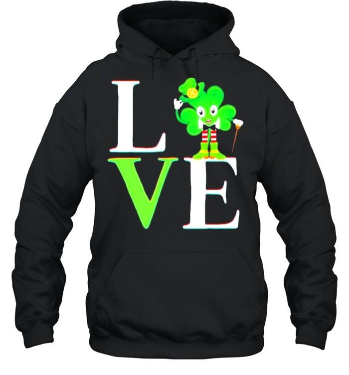 St Patricks day 2021 shamrock love Patricks shirt Unisex Hoodie