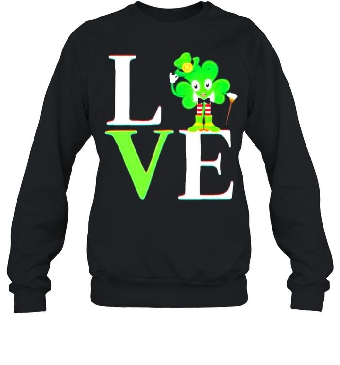 St Patricks day 2021 shamrock love Patricks shirt Unisex Sweatshirt