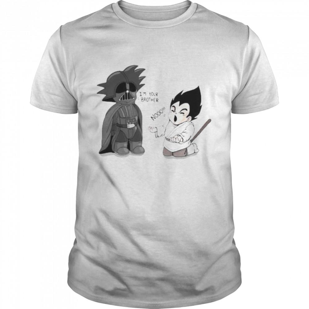 Goku From Dragon Ball Battles Against Darth Vader From Star Wars Shirt