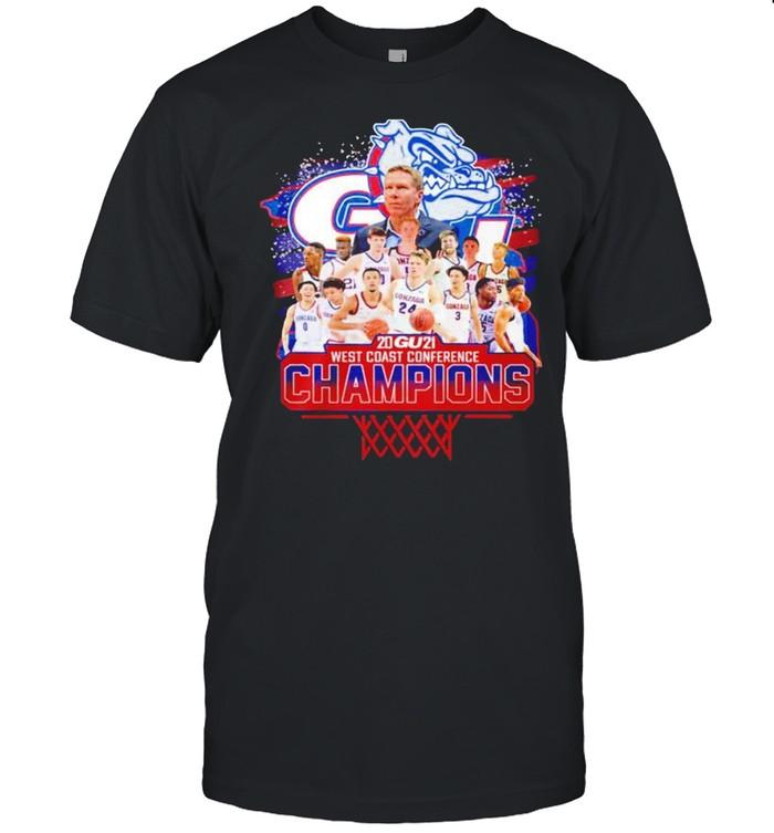 Gonzaga Bulldogs 2021 West Coast Conference Champions shirt