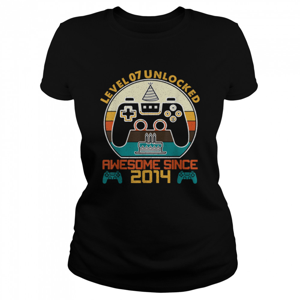 Level 7 Unlocked Video Gamer 7 Years Old 7 Birthday shirt Classic Women's T-shirt