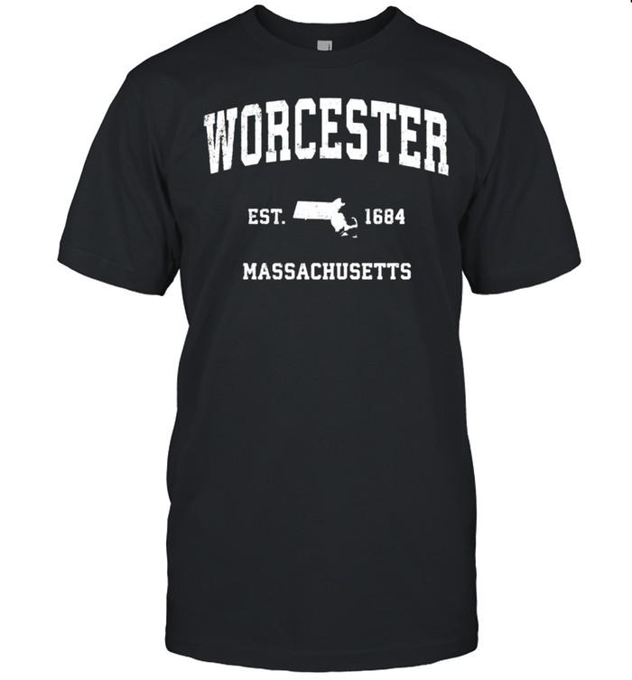 Worcester Massachusetts MA Vintage Athletic shirt