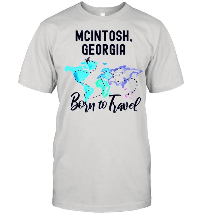 McIntosh Georgia Born to Travel World Explorer shirt