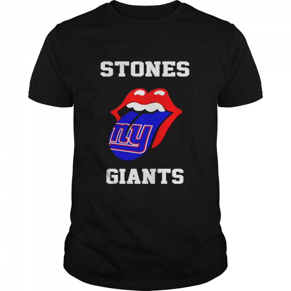 The Rolling Stones New York Giants lips shirt
