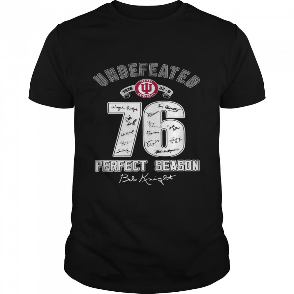 Indiana University undefeated 1976 32 0 76 perfect season signatures shirt