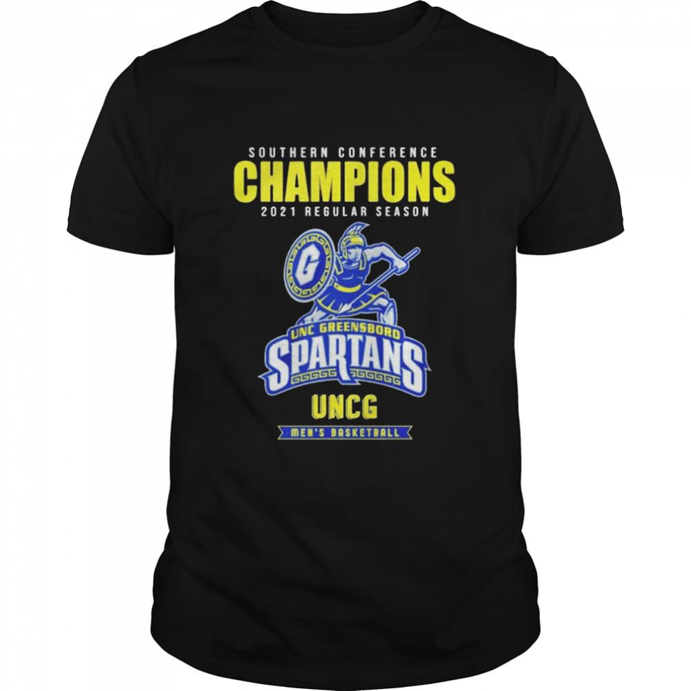 Southern conference champions 2021 regular season UNC Greensboro Spartans men's basketball shirt