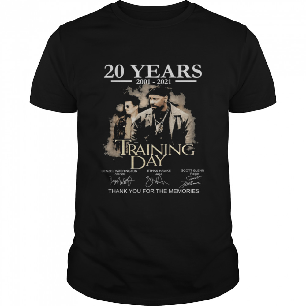 20 years Training Day signatures thank you for the memories shirt