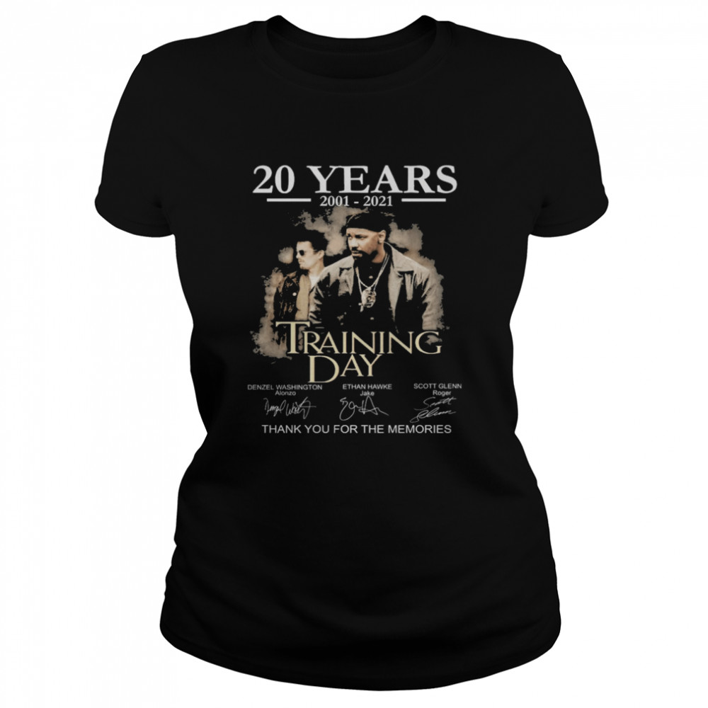 20 years Training Day signatures thank you for the memories shirt Classic Women's T-shirt