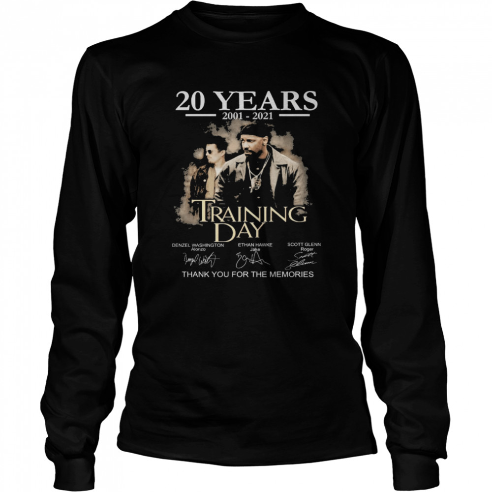 20 years Training Day signatures thank you for the memories shirt Long Sleeved T-shirt