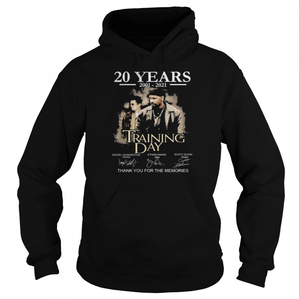 20 years Training Day signatures thank you for the memories shirt Unisex Hoodie