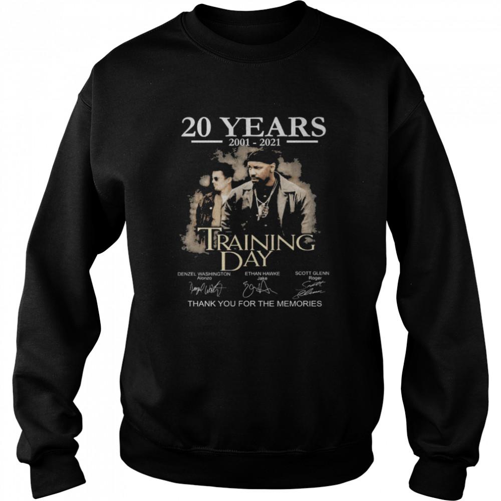 20 years Training Day signatures thank you for the memories shirt Unisex Sweatshirt